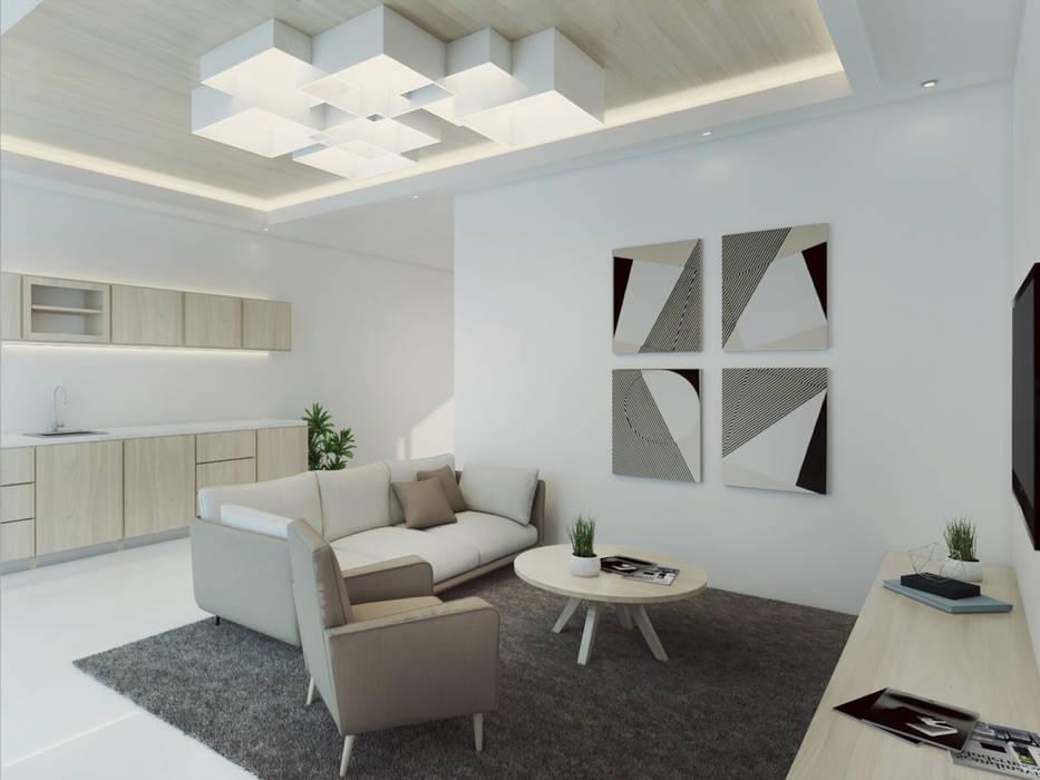 Ruang Keluarga Minimalis Oleh Kolletra Visual Studio Minimalis Granit