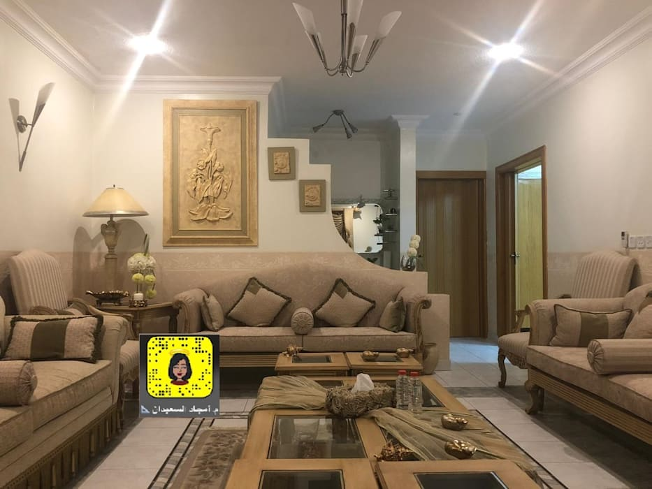 صالة معيشة:  غرفة المعيشة تنفيذ Amjad Alseaidan,
