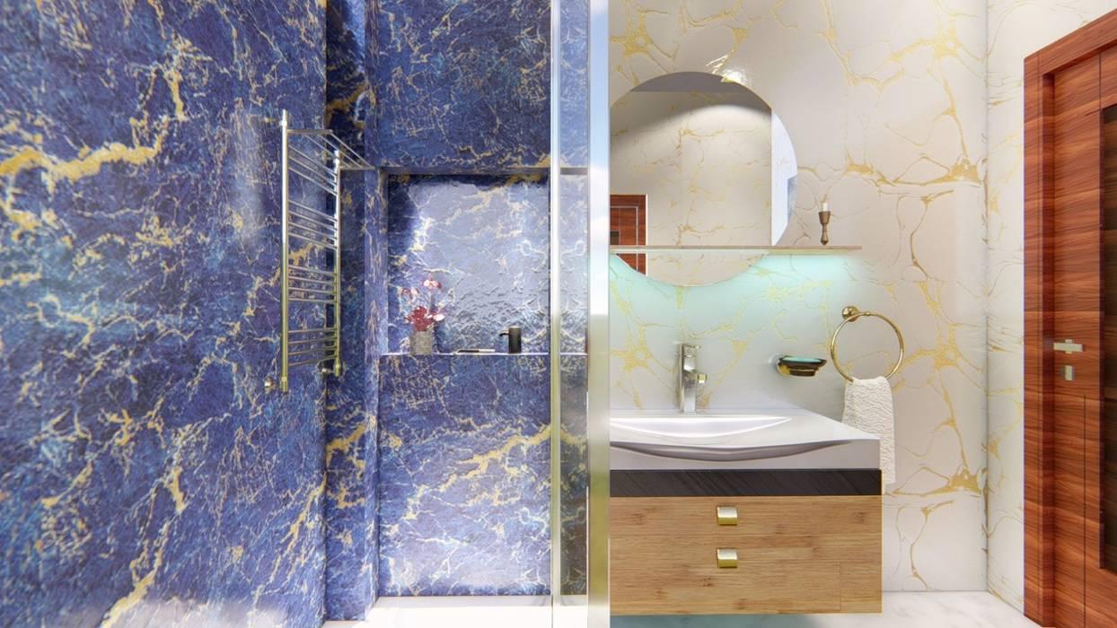 Baños de estilo moderno de Manglam Decor Moderno