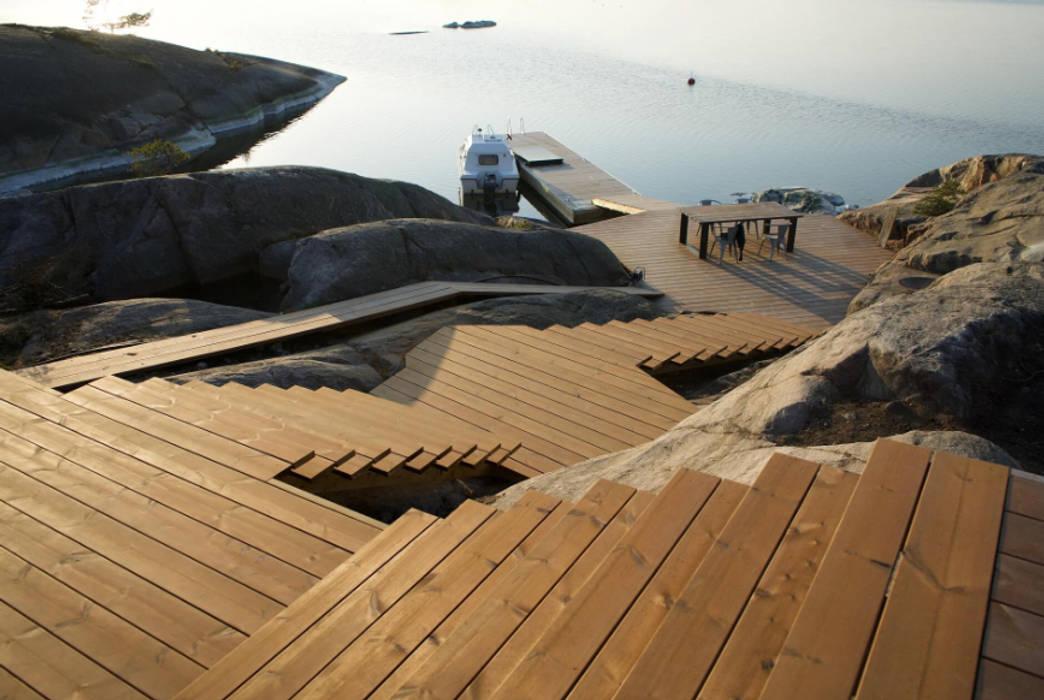 Pavimento da esterno in legno THERMOWOOD - Progetto O in Finlandia di ONLYWOOD Classico Legno massello Variopinto
