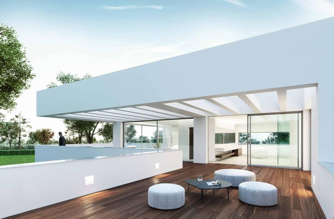 Modern style balcony, porch & terrace by Otto Medem Arquitecto vanguardista en Madrid Modern