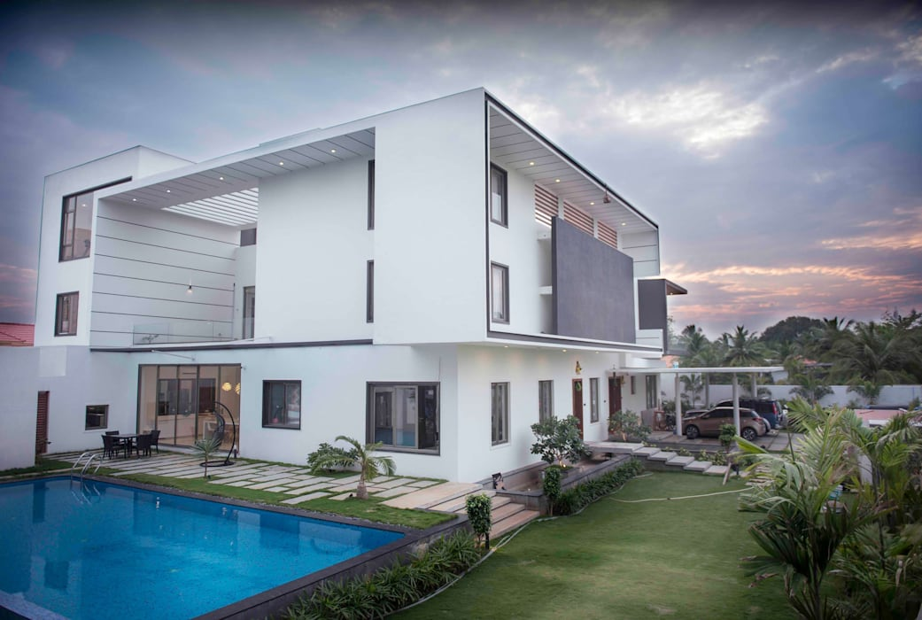 Casas modernas de DesignQube Moderno