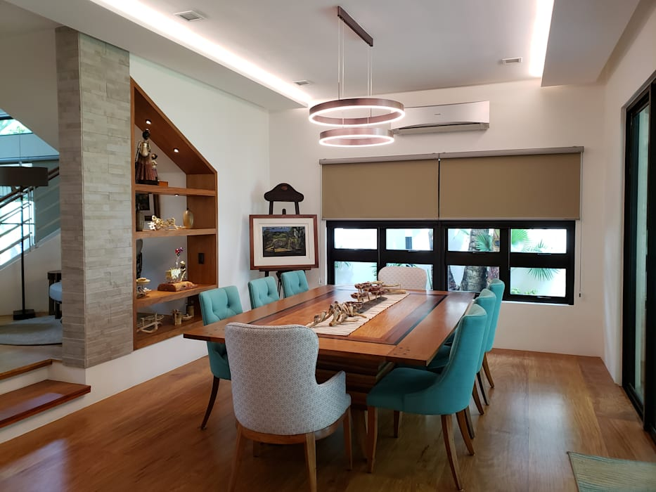Pearl of the Orient Tropical style dining room by Geraldine Oliva Tropical