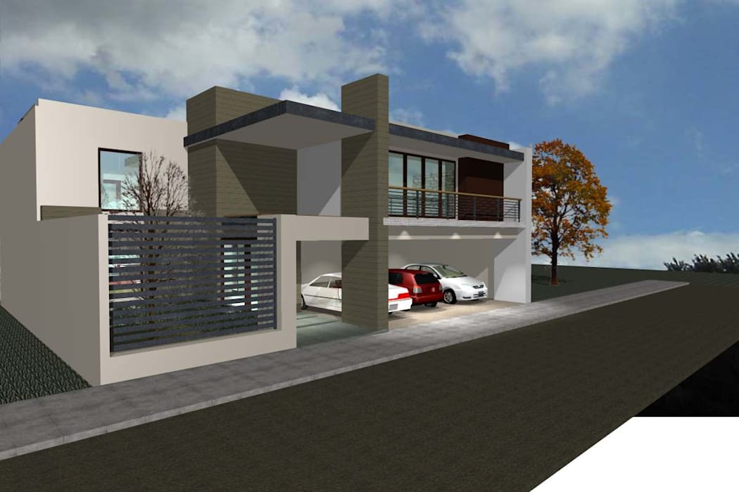 grupo ME Arquitectos Single family home Brown