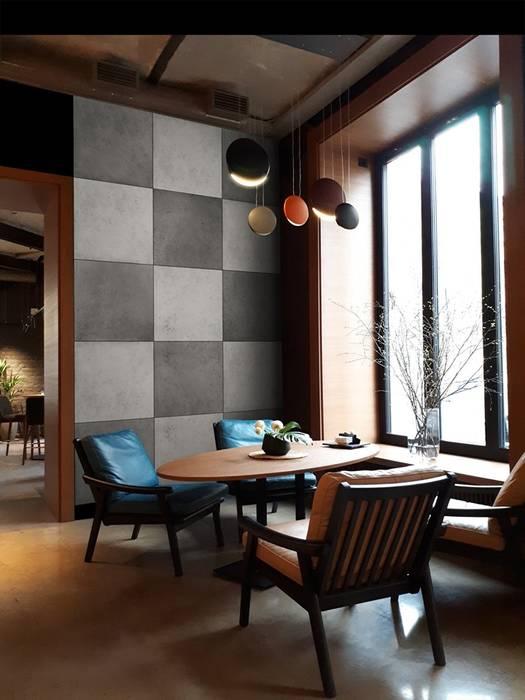 Betonoptik Platten aus Gips als stimmungsvolles Farbmosaik Moderne Wände & Böden von Loft Design System Deutschland - Wandpaneele aus Bayern Modern