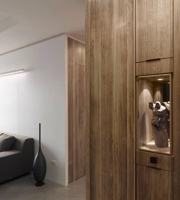 青禾:  走廊 & 玄關 by 形構設計 Morpho-Design, 現代風