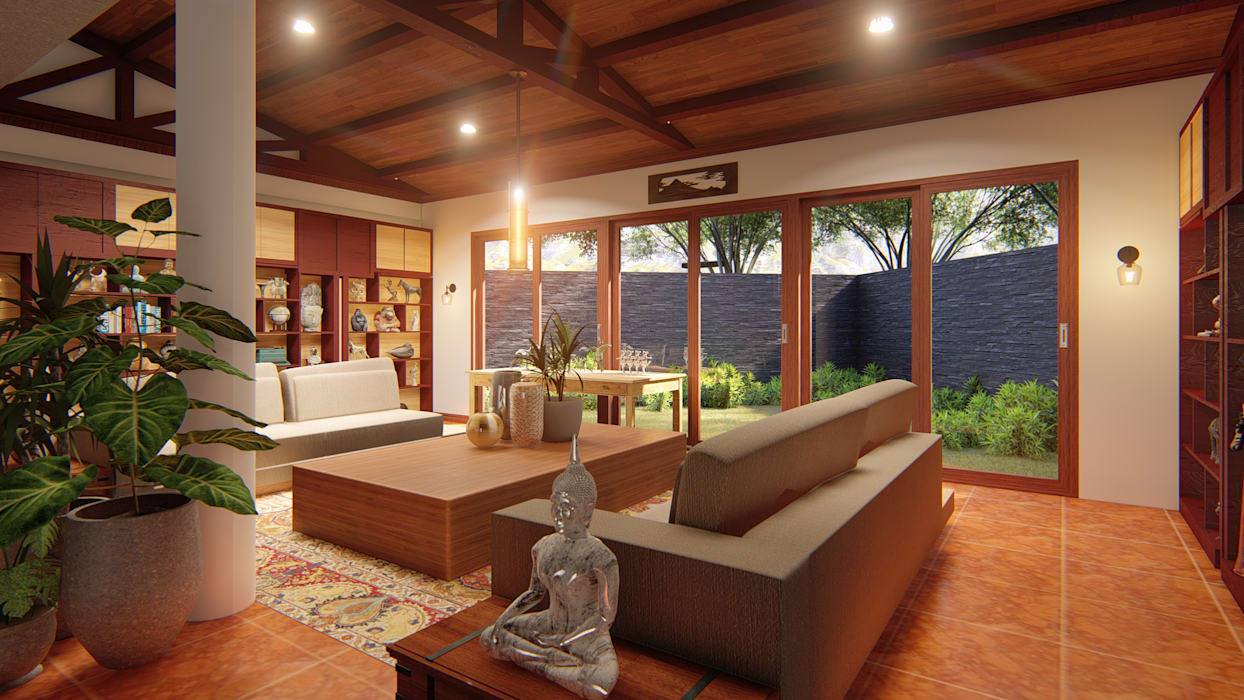 Paranaque House Extension:  Study/office by JPSolatorio Architectural Design Services,