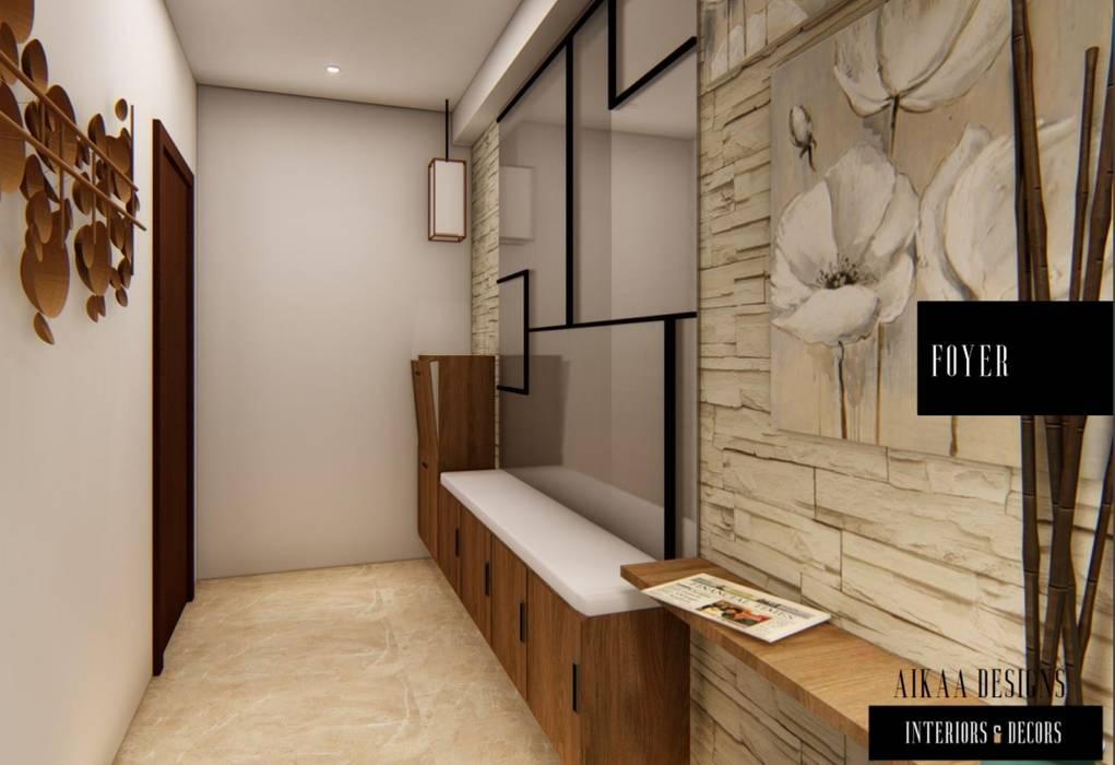 FOYER UNIT Modern corridor, hallway & stairs by Aikaa Designs Modern