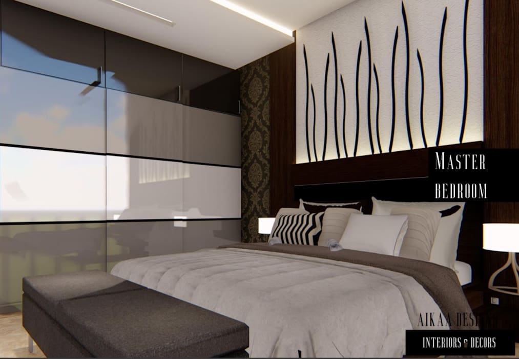 MASTER BEDROOM Modern style bedroom by Aikaa Designs Modern