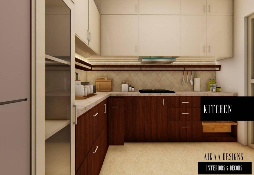 KITCHEN Modern kitchen by Aikaa Designs Modern
