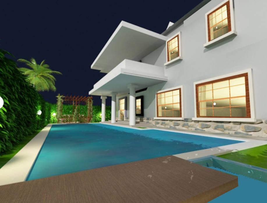 تصميم المسبح الخارججى:  مسبح حديقة تنفيذ smarthome,