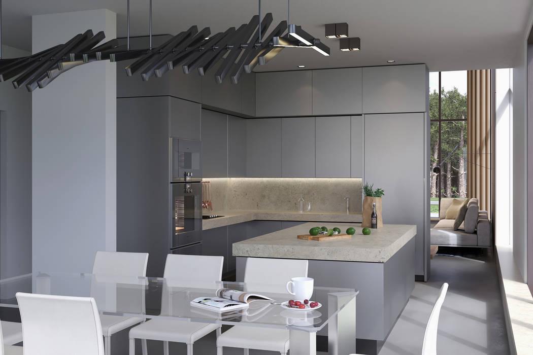 Villaggio: Столовые комнаты в . Автор – (DZ)M Интеллектуальный Дизайн, Минимализм