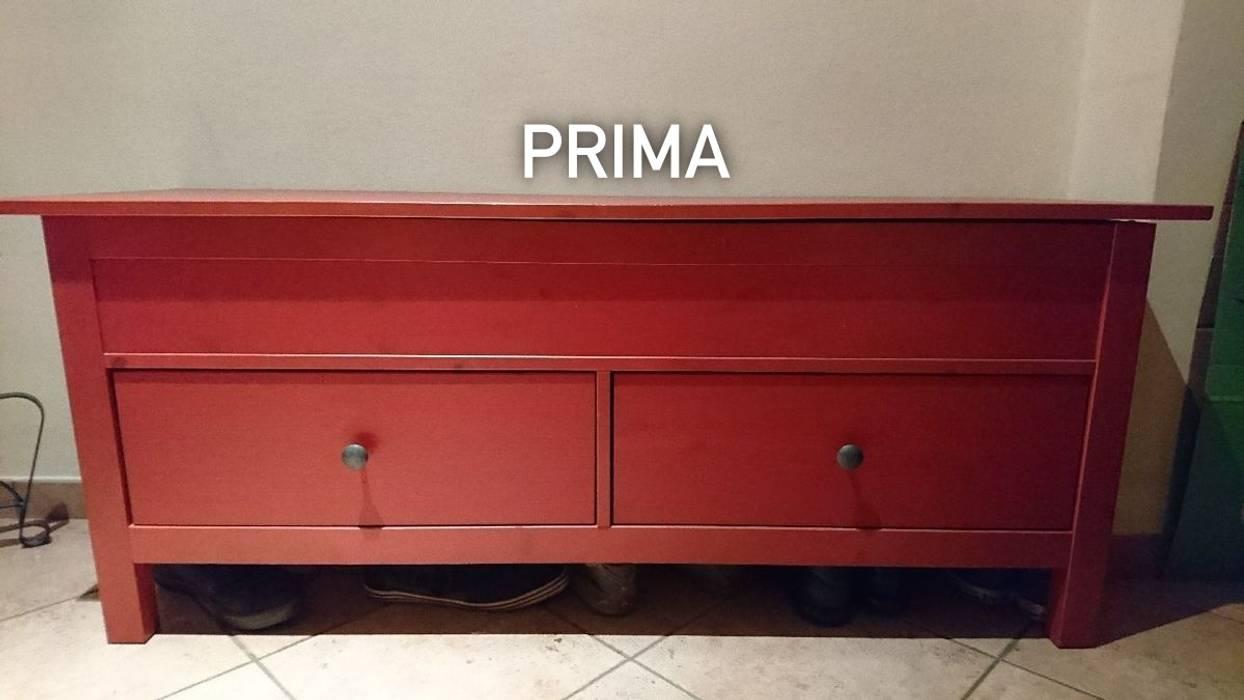 Panche Di Legno Ikea.Cassapanca Ikea Rossa Giardino D Inverno Eclettico Di Mobili A
