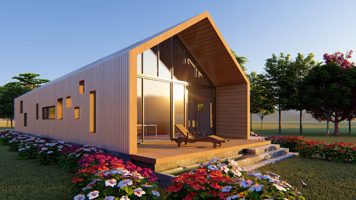 CASA C/V: Casas de campo de estilo  por Primer Clove Arquitectos, Rural Madera Acabado en madera