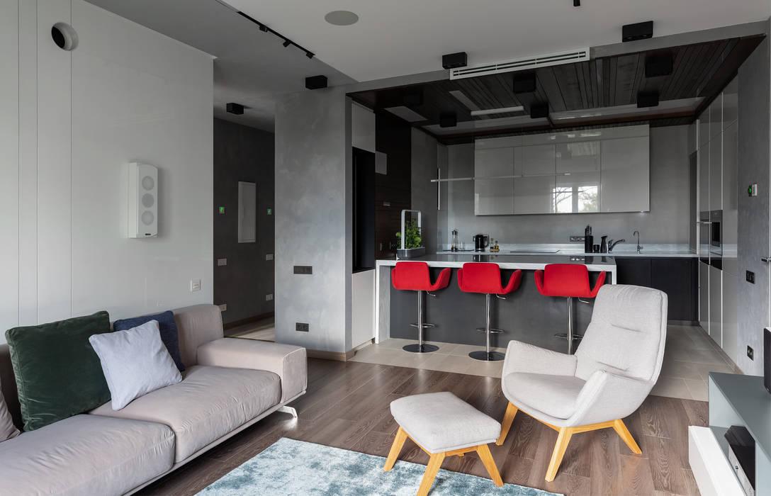 Livings de estilo  por Interior designers Pavel and Svetlana Alekseeva, Clásico