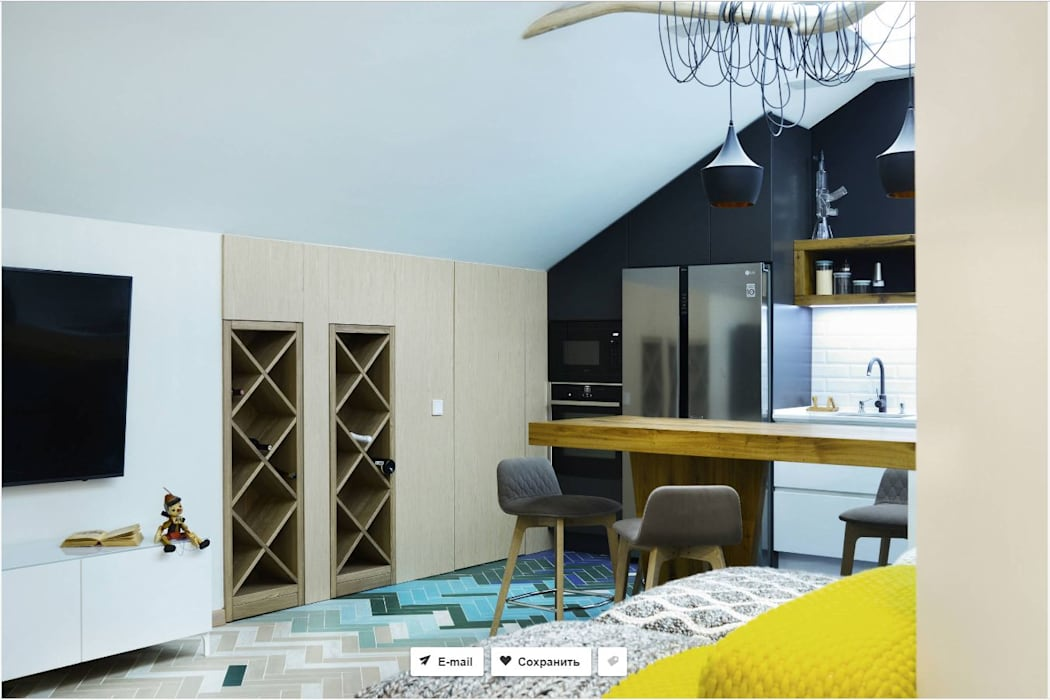 проект Мансарда, Казань (реализация проекта) от Interior designers Pavel and Svetlana Alekseeva Лофт
