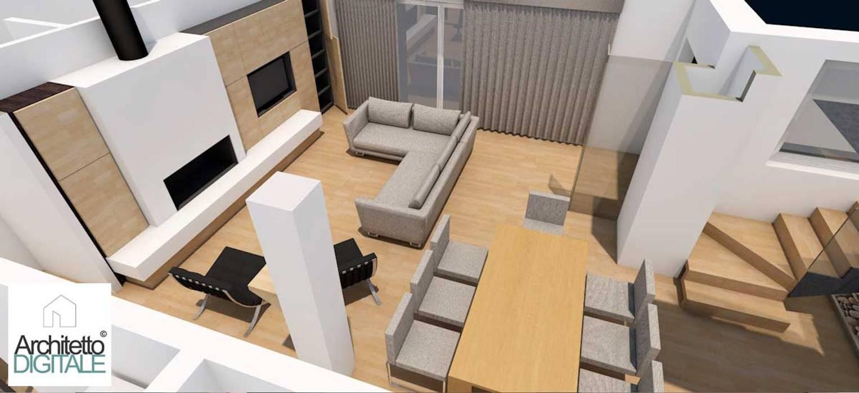 Esempio di progettazione in 3d di un soggiorno: soggiorno in ...