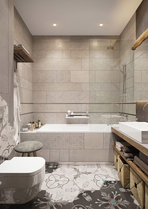 Post Modern Residency Colonial style bathroom by ACOR HOME LIFE SOLUTIONS Colonial