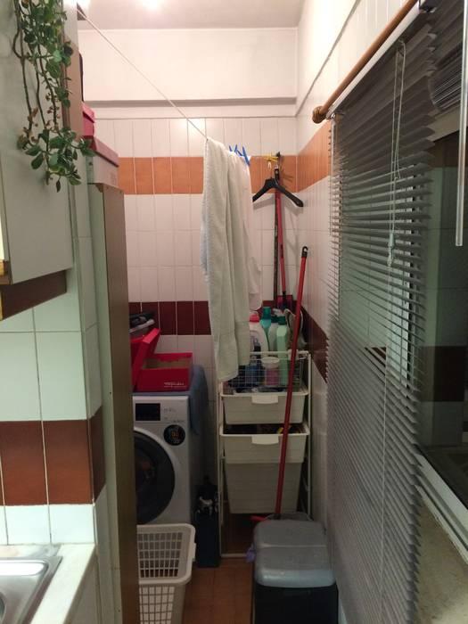 Lavandaria - Antes Garagens e arrecadações modernas por CSR Moderno