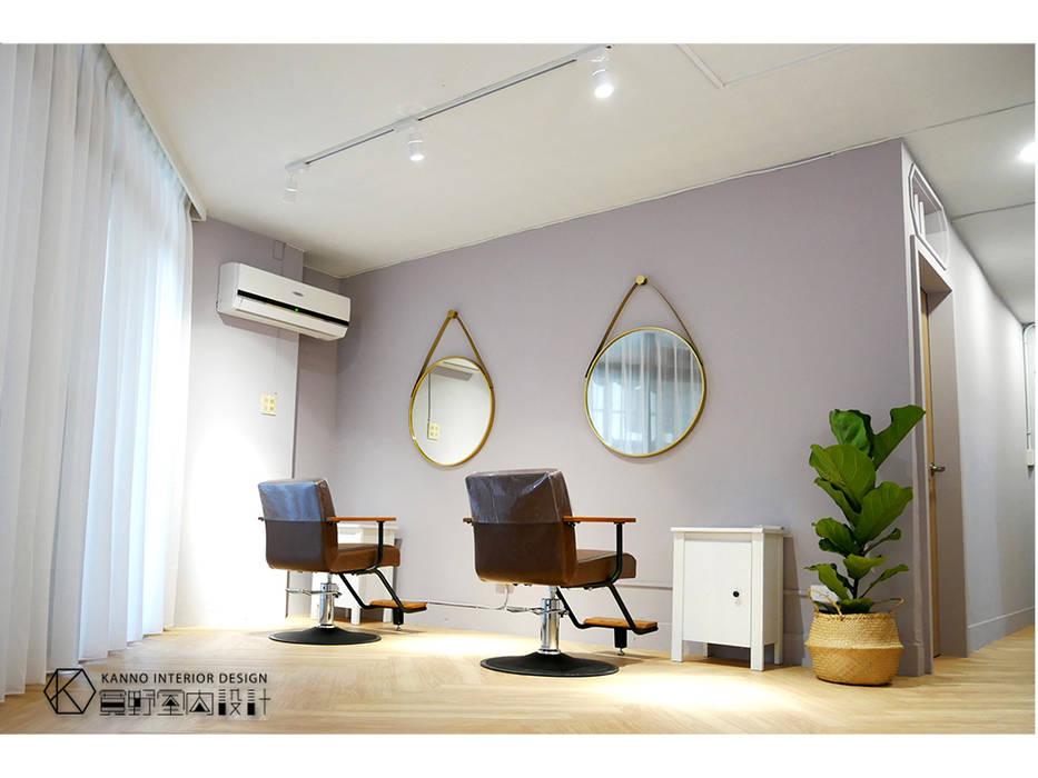 剪髮區:  商業空間 by 寬野設計, 北歐風