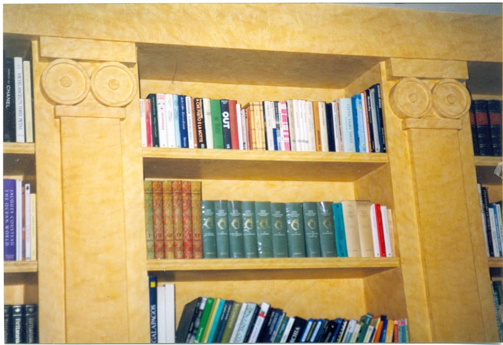 Decorated and Waxed Bookcase by homify Mediterranean Wood Wood effect