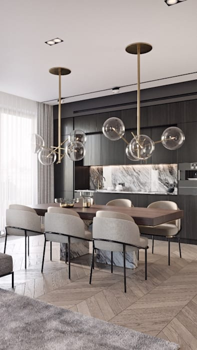 Modern dining room by smarthome Modern