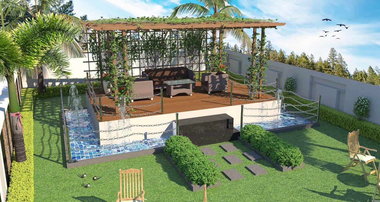 Jardin De Rocaille De Style Par Future Design Studio