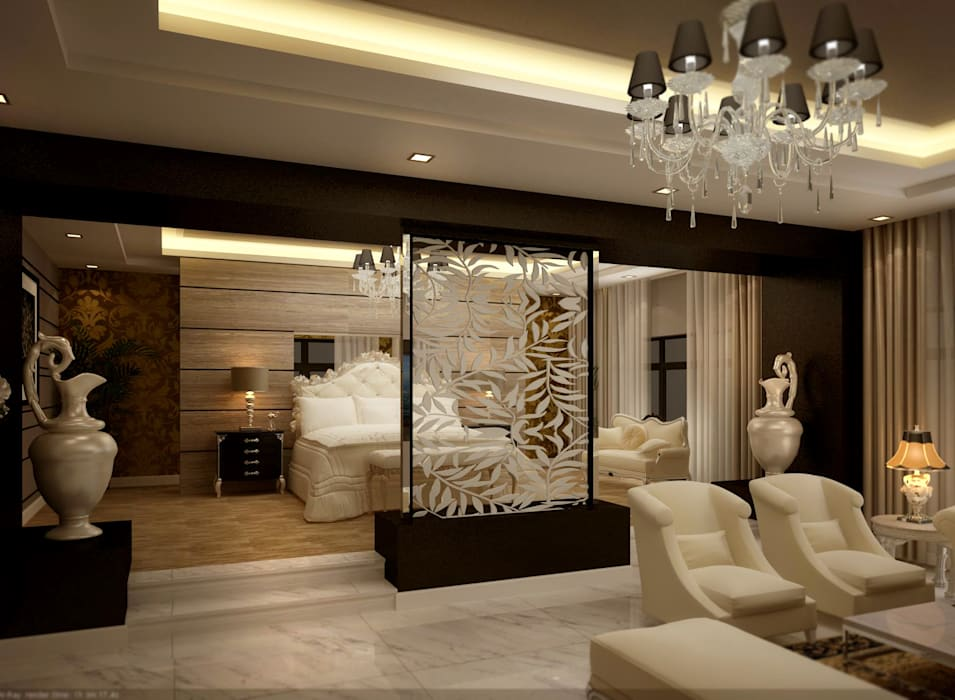 master bedroom:  غرف نوم صغيرة تنفيذ smarthome,