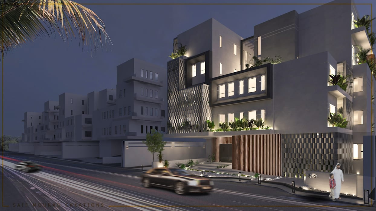 Architecture design | Mecca Residence by Saif Mourad Creations Modern