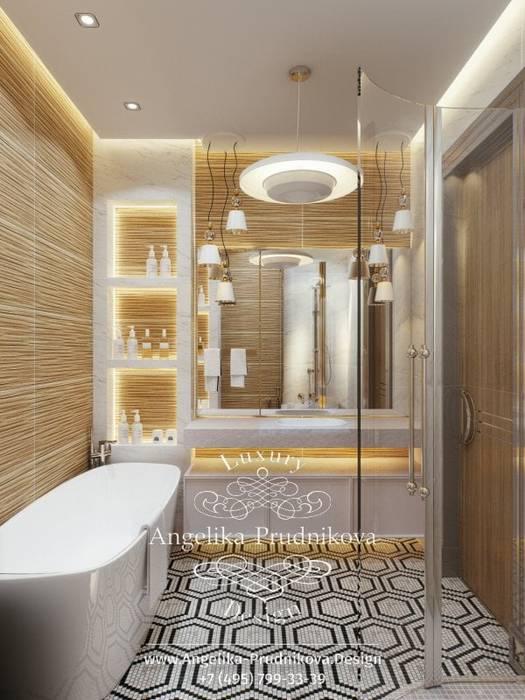 Дизайн-проект Интерьера санузла в ЖК BARRIN HOUSE Ванная в классическом стиле от Дизайн-студия элитных интерьеров Анжелики Прудниковой Классический
