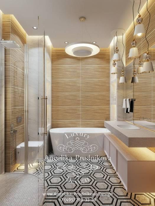 Дизайн-проект Интерьера санузла в ЖК BARRIN HOUSE Дизайн-студия элитных интерьеров Анжелики Прудниковой Ванная в классическом стиле