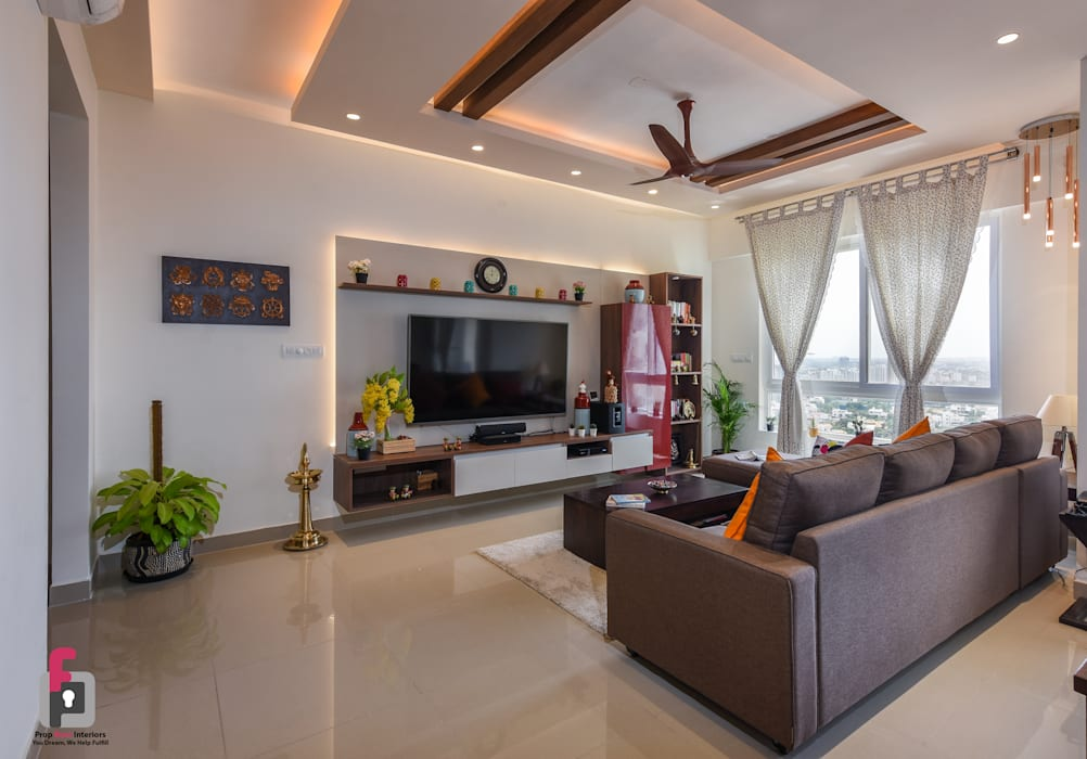 Living Room Asian style living room by Prop Floor Interiors Asian Plywood
