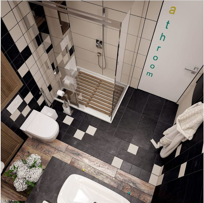 Industrial style bathroom by Interior designers Pavel and Svetlana Alekseeva Industrial