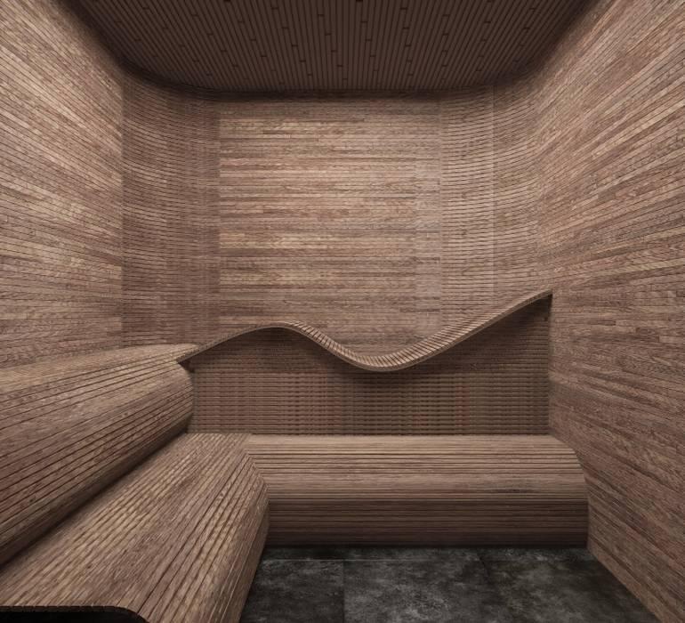 Saunas de estilo  de SK Interiors studio, Minimalista