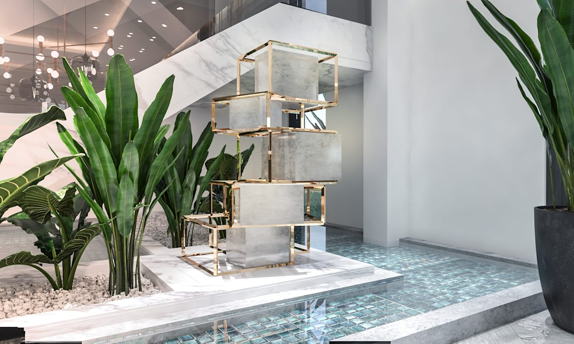 Water element:  Stairs by Saif Mourad Creations, Modern