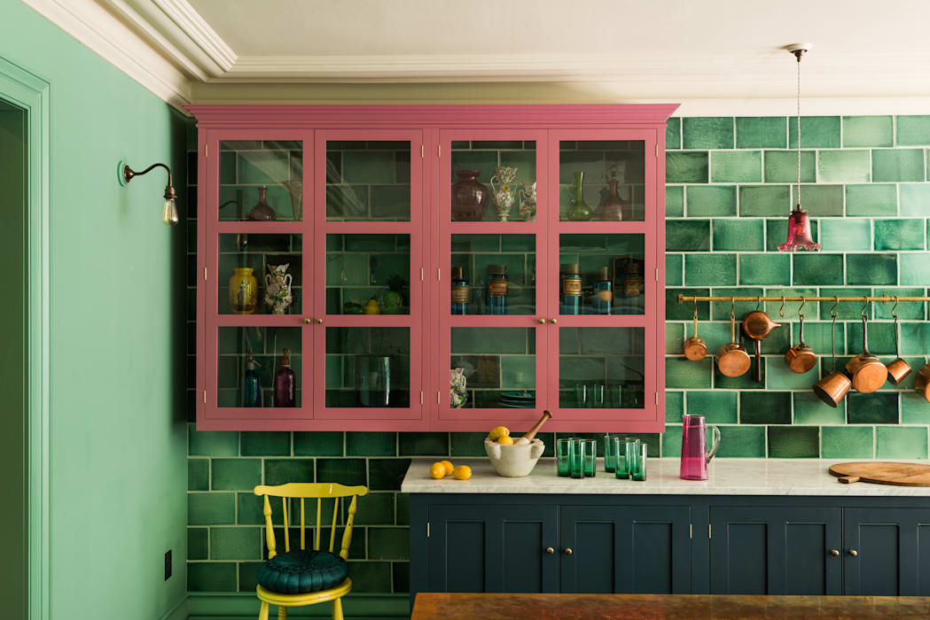 The Bond Street Classic Showroom by deVOL Kitchens Eclectic Solid Wood Multicolored
