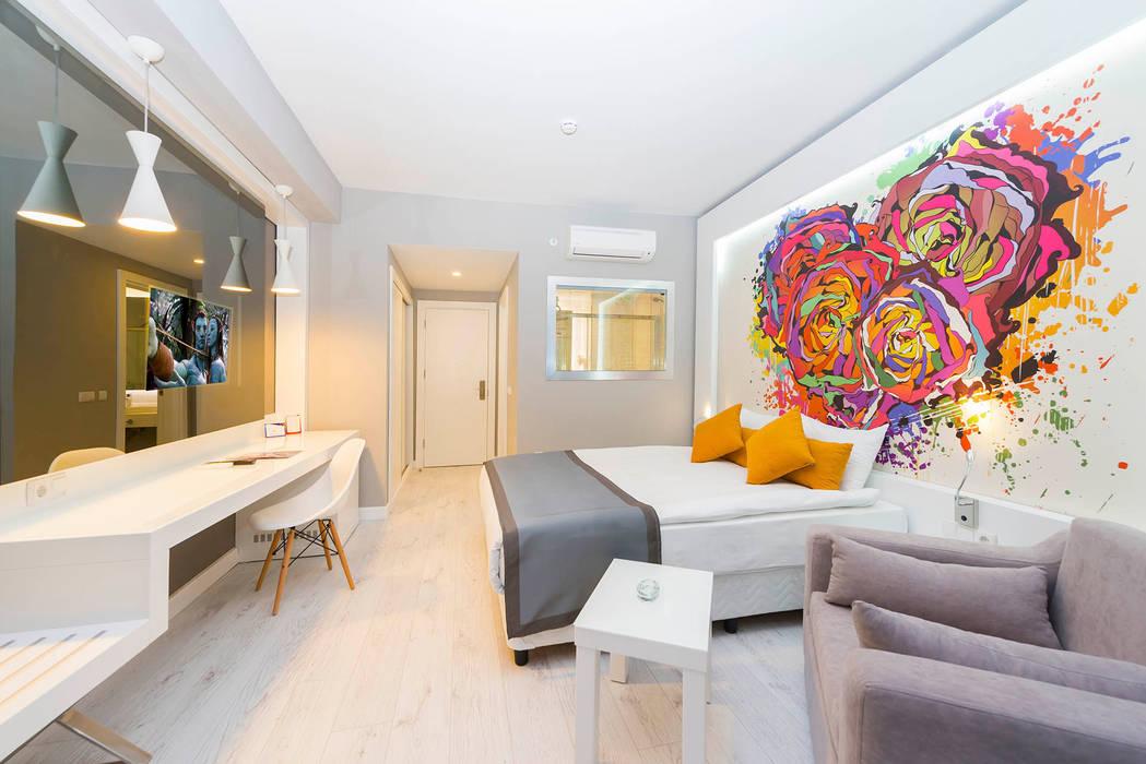 Hoteles de estilo  por KALYA İÇ MİMARLIK \ KALYA INTERIOR DESIGN, Moderno Madera Acabado en madera