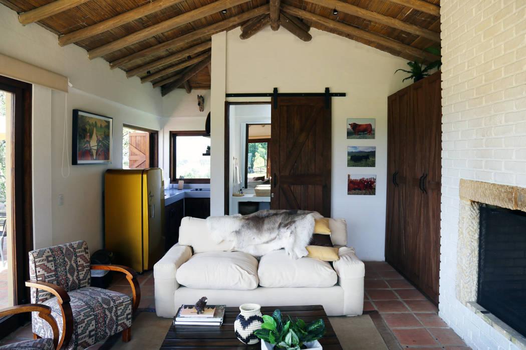 Gamma Rustic style living room