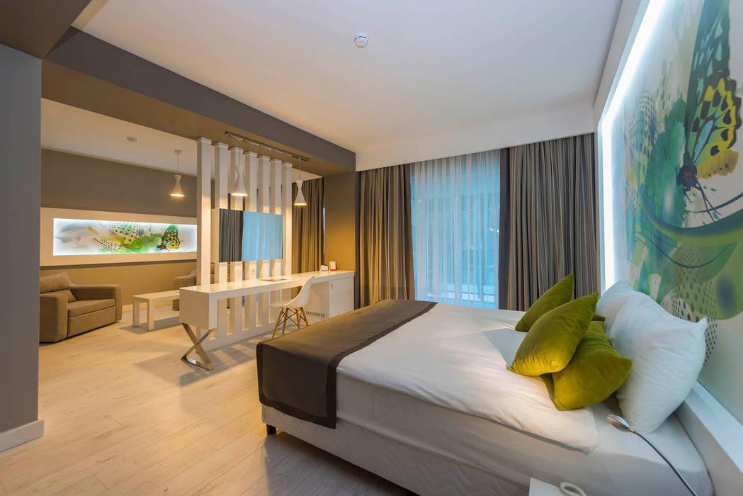 KALYA İÇ MİMARLIK – Suit Otel Odası - Yatak Başı:  tarz Oteller,