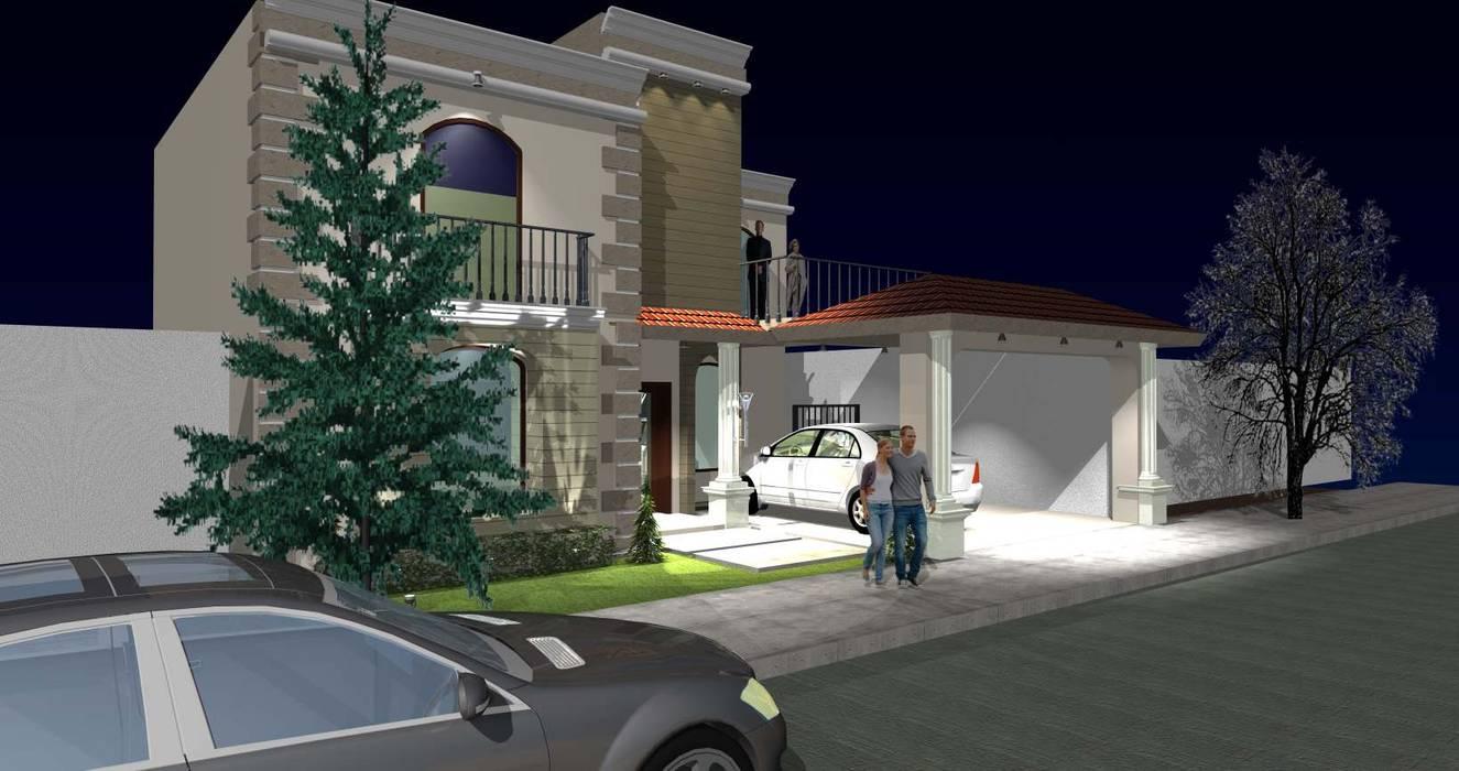 Vista lateral Fachada principal de grupo ME Arquitectos Clásico
