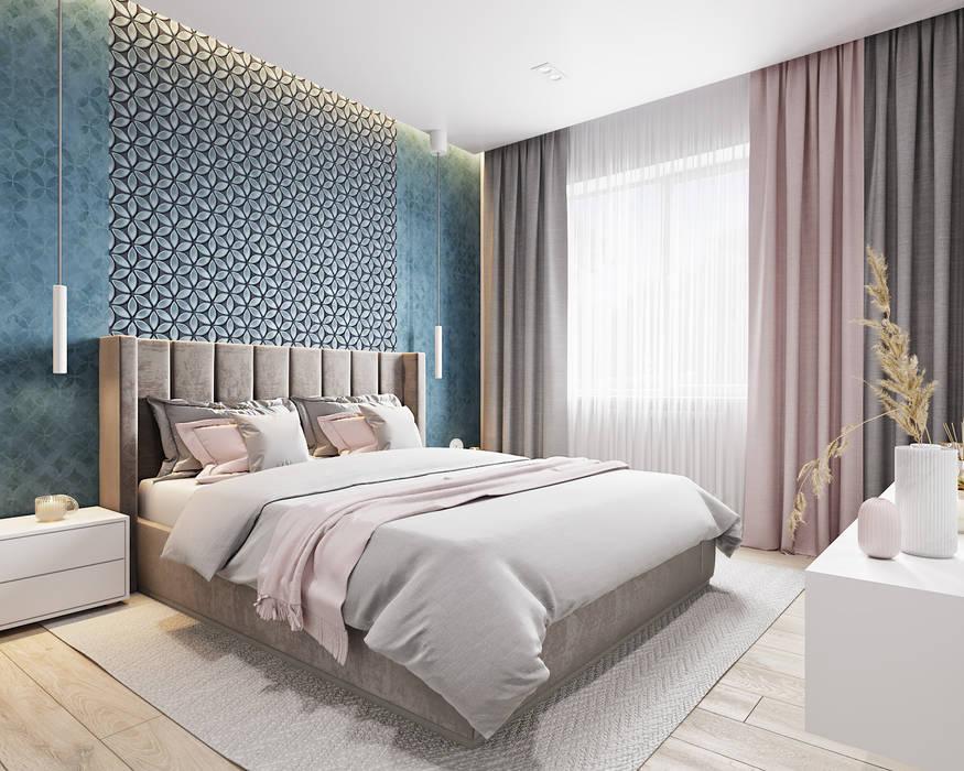 Мастер-Спальня: Спальни в . Автор – Goroh бюро, Модерн