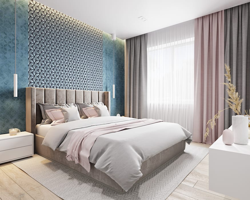 Dormitorios de estilo  por Goroh бюро, Moderno
