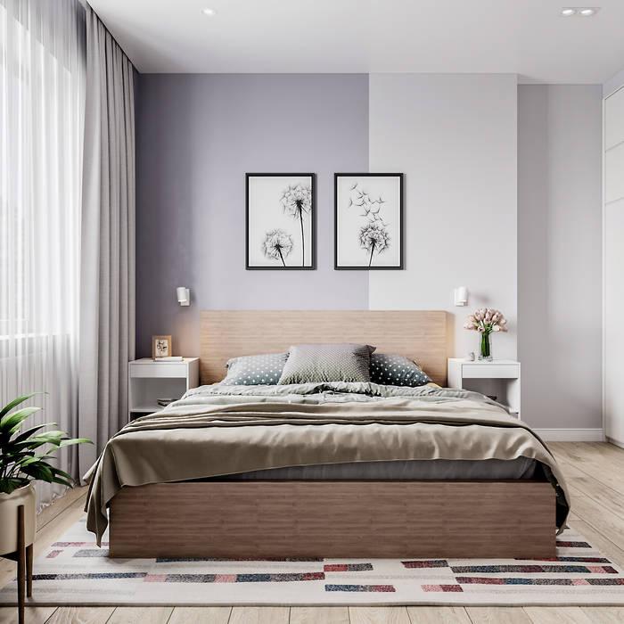 Dormitorios de estilo moderno de Goroh бюро Moderno