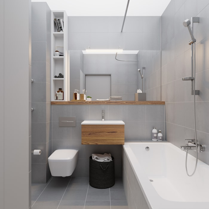 Industrial style bathrooms by homify Industrial