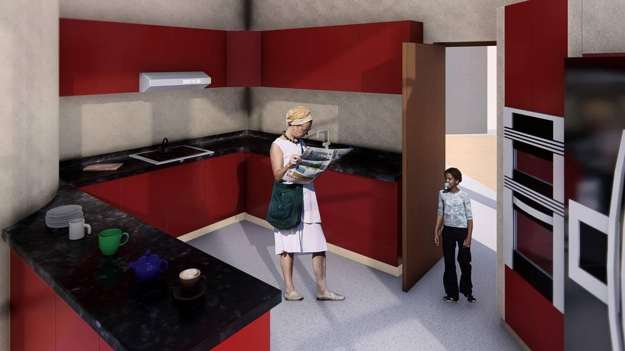 Modern kitchen by Arq. Bruno Agüero Modern