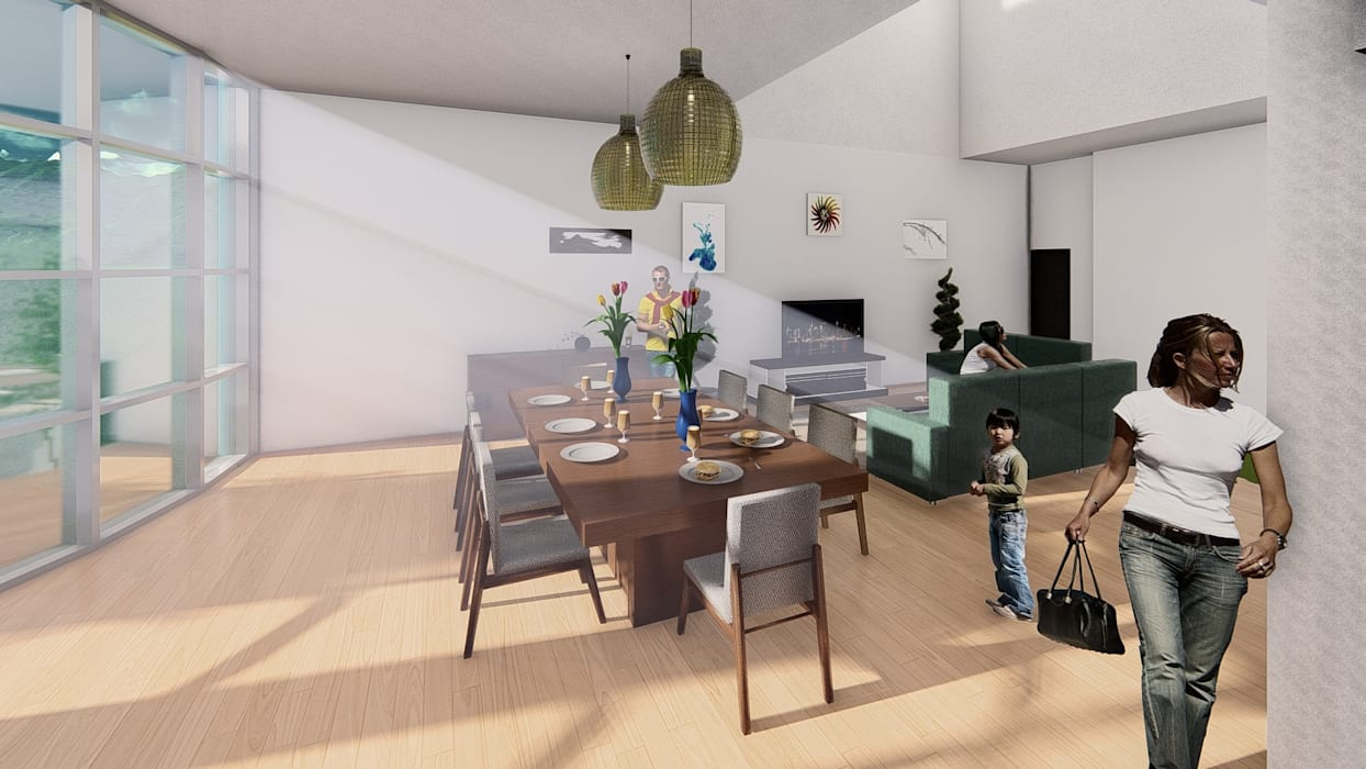 Modern living room by Arq. Bruno Agüero Modern
