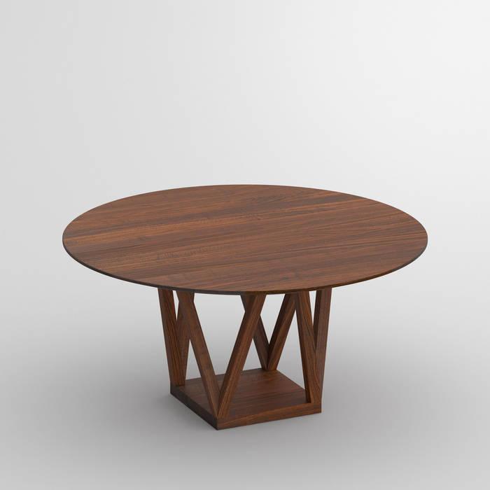 Tavolo rotondo moderno design legno massello sala da pranzo ...