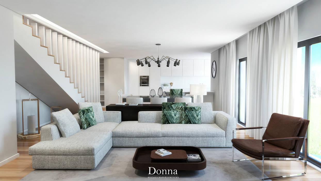 Sala Apartamento : Sala de estar  por Donna - Exclusividade e Design,