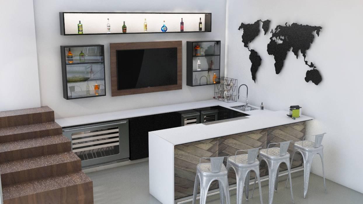 ห้องเก็บไวน์ โดย Isometría, โมเดิร์น