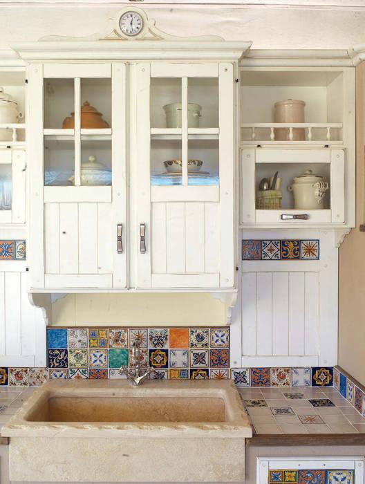 Pensili cucina legno massello stile country: cucina ...